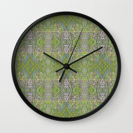 Colorful fireflies Wall Clock
