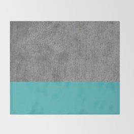 Concrete x Blue Throw Blanket