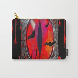 Red  Hells Gate Portal Blood & Bats Carry-All Pouch