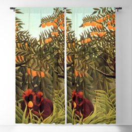 "Henri Rousseau ""Apes in the Orange Grove"" Blackout Curtain"