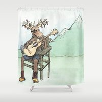portland Shower Curtains featuring Portland wildlife by Jamie Letourneau