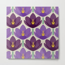 Crocus Flower Metal Print