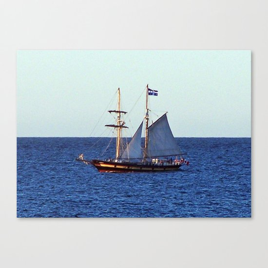 Quebec Sailboat Canvas Print