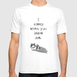 I Sleep When T-shirt