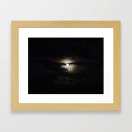 creepy night Framed Art Print