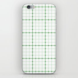 Dotted Grid Weave Green iPhone Skin