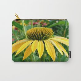 Yellow Echinacea/Coneflower Sideview Carry-All Pouch