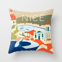 Nice – Daytime Version Throw Pillow