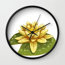 Cute Yellow Lily Pad Wall Clock