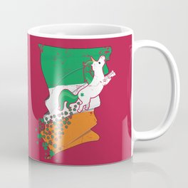 Unicorn Distressed Irish Flag St Patricks Pink Coffee Mug