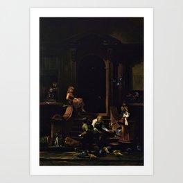 American Masterpiece 'Brownstone Front Stoop - New York' by Artist Unknown Art Print