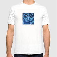 erykah?!../alternative-blue/ MEDIUM White Mens Fitted Tee