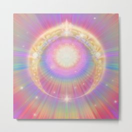 Sun Ring Metal Print