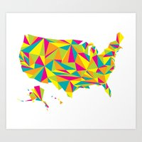 Abstract America Bright Earth Art Print