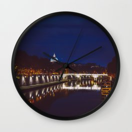Rome by night Wall Clock