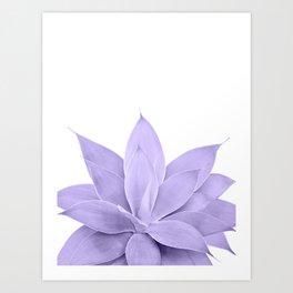 Ultra Violet Agave on White #1 #tropical #decor #art #society6 Art Print
