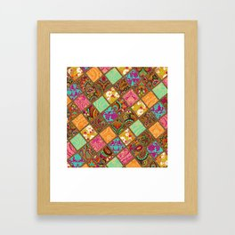 Patchwork Paisley Framed Art Print