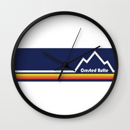 Crested Butte, Colorado Wall Clock