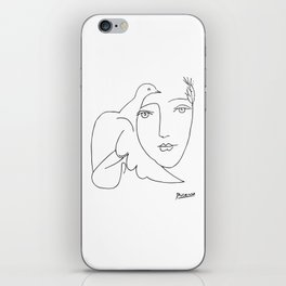 Pablo Picasso Peace (Dove and Face) T Shirt, Sketch Artwork iPhone Skin