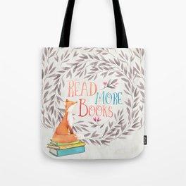 Read More Books - Fox Tote Bag