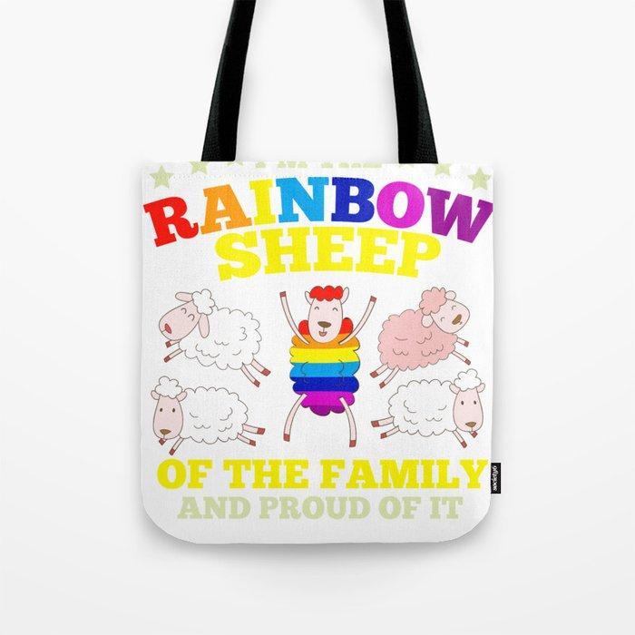 LGBT pride rainbow sheep family gift Tote Bag