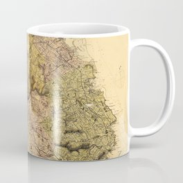 Map Of Mauritius 1880 Coffee Mug