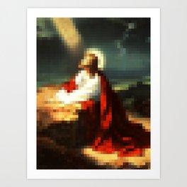 Digital Jesus Art Print