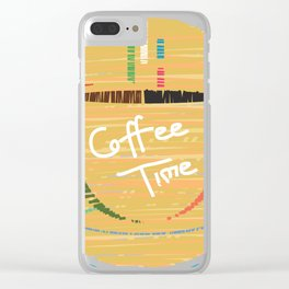 Coffee Holic Clear iPhone Case