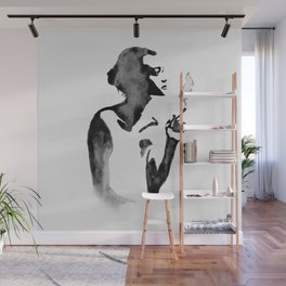Smoker (Ink Painting) Wall Mural