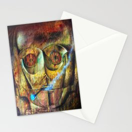 Rebel C3Po painting Stationery Cards