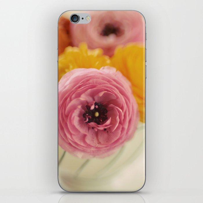 Vintage Ranunculus iPhone Skin