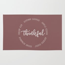 Thankful for Jesus and Autumn Rug