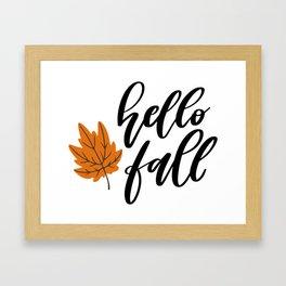 Hello Fall Framed Art Print