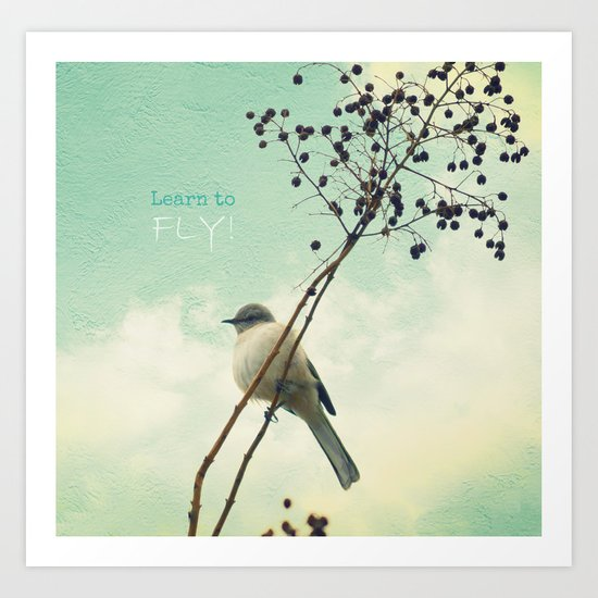 Learn to Fly! Art Print