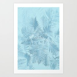 Abstract Tropical leaves Art Print