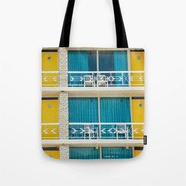 Retro Hotel Print Tote Bag