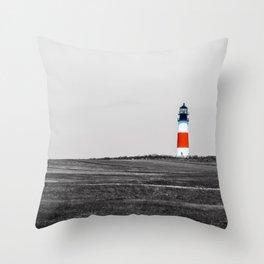Sanity Head Lighthouse, Nantucket Throw Pillow