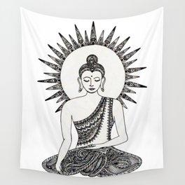 Meditating Buddha Wall Tapestry