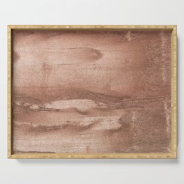 Brown abstract watercolor Serving Tray