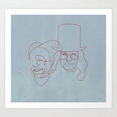 One line Dracula Art Print