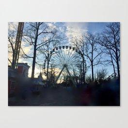 Ferris Wheel Color Canvas Print