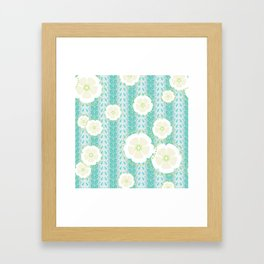Kanzashi Willow - blues Framed Art Print