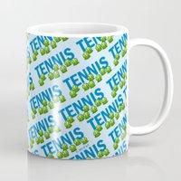 tennis Mugs featuring Tennis by joanfriends