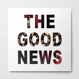 The Good News Title Metal Print