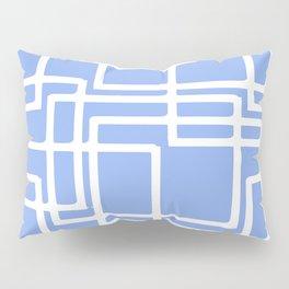 Retro Modern Rectangles On Summer Sky Blue Pillow Sham
