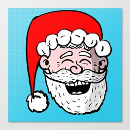 Laughing Santa Canvas Print