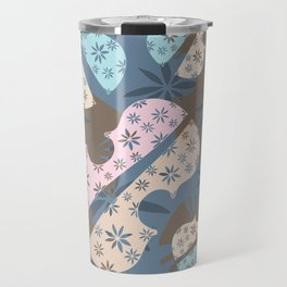 Flower Cello Violin Viola Pattern in blues and pinks Travel Mug