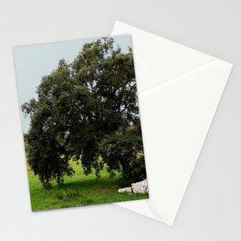 Old Cork Oak Tree Meadow Stationery Cards