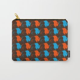 Orange Blue Buffalo Spirit Carry-All Pouch