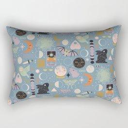Lunar Pattern: Blue Moon Rectangular Pillow
